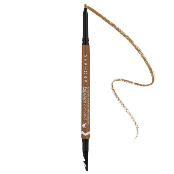 Waterproof retractable eyebrow pencil